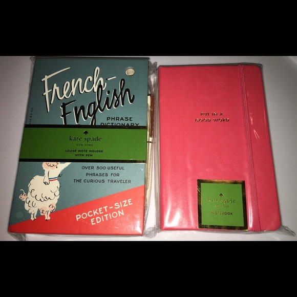 kate spade Other - Kate Spade French-English Phrase and Notebook
